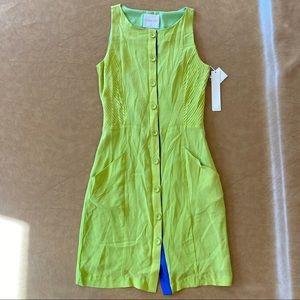 Line & Dot Lime Green Dress